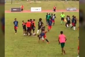 Insiden pergaduhan cemari saingan bola sepak Sukma