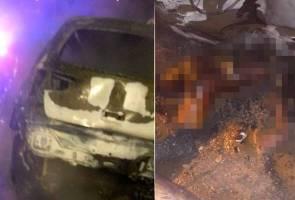 Lelaki maut terbakar bawah kereta