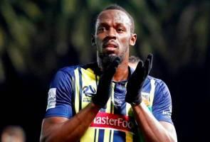 Usain Bolt jaring dua gol untuk Central Coast Mariners