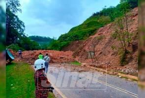Tanah runtuh di Cameron Highlands, jalan utama ditutup