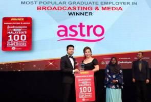 Astro terima anugerah Majikan Paling Popular Pilihan Graduan Malaysia (Penyiaran/Media)
