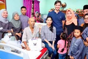 Tunku Tun Aminah melawat Zaibo beri kata-kata semangat