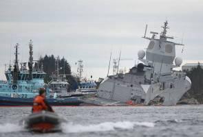 Kapal tangki bertembung kapal perang di Norway
