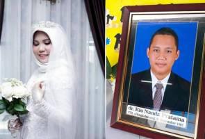 Tunang 'ghaib' bersama serpihan pesawat Lion Air, wanita teruskan perkahwinan