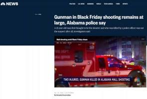 Polis salah tembak, penyerang sebenar Alabama masih bebas