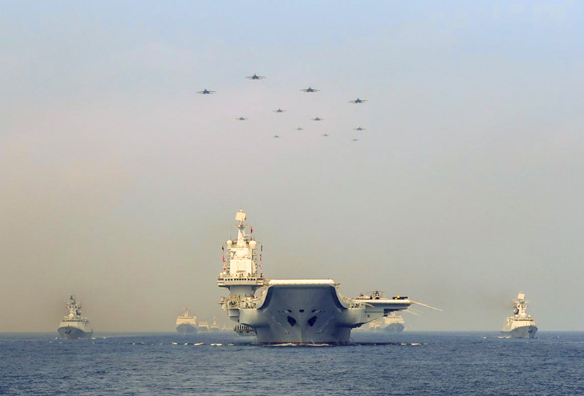 Given China's military presence in the South China Sea, a pre-emptive strike could be on the table. REUTERS