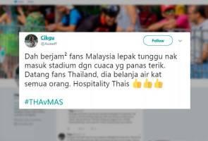 'It's nice to be nice' - Layanan baik penyokong Thailand jadi bualan 'ekor' Harimau Malaya