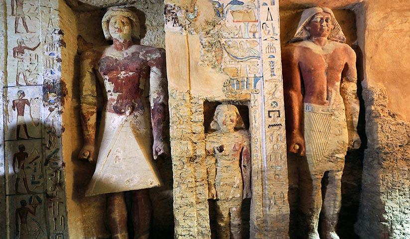 Makam ini dipercayai wujud ketika zaman pemerintahan Firaun ketiga, Neferirkare Kakai, iaitu dari Dinasti Kelima Kerajaan Mesir Kuno. - Reuters