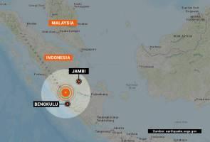 Gempa bumi 5.7 magnitud gegar Bengkulu, Indonesia