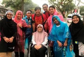 Himpunan 812: Peserta berkerusi roda gigih walau baru jalani pembedahan