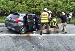Empat maut, kereta gagal memotong lalu bertembung di Lipis