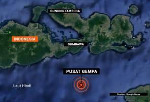Gempa bumi sederhana landa rantau Sumbawa, Indonesia