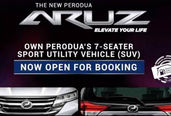 Perodua lancar SUV-Aruz, guna sistem Brek Pra-Pelanggaran