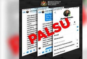 Ketua Pengarah KPM nafi akaun palsu Facebook Messenger
