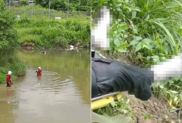 Mayat seorang lelaki lengkap berpakaian ditemui terapung di sungai berdekatan Stesen Aliran Ringan (LRT) Sentul, di sini, pada Isnin.