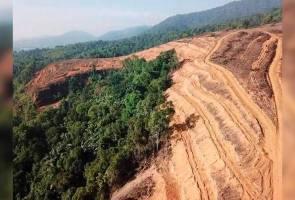 Penerokaan haram Bukit Kledang untuk ladang sawit - MB Inc