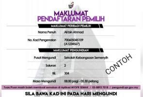 PRK Semenyih: SPR hantar kad maklumat pengundian kepada pengundi berdaftar