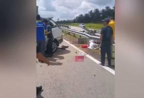 Wanita warga Thailand maut, kereta terbabas di LPT2
