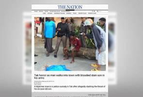 Bapa kelar leher anak, bawa mayat ke hadapan sekolah