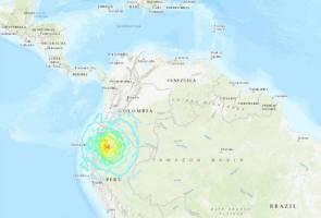Gempa kuat 7.5 magnitud landa sempadan Ecuador-Peru