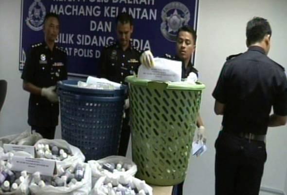 Empat sekawan proses air ketum dalam semak dicekup polis