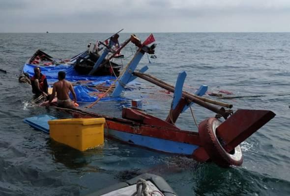 Nelayan Indonesia maut kejadian bot karam di Pulau Pinang