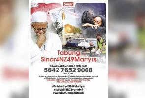 Sasar RM2 juta bagi Tabung Kecemasan Mangsa Tragedi di New Zealand #Sinar4NZ49Martyrs