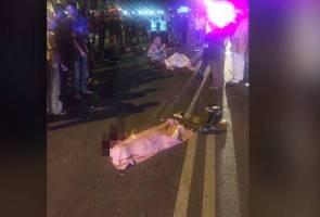 Tiga beranak maut dalam kemalangan libatkan tiga kenderaan