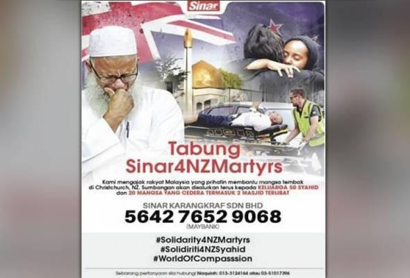 Tabung #Sinar4NZMartyrs: Rakyat tak henti menderma