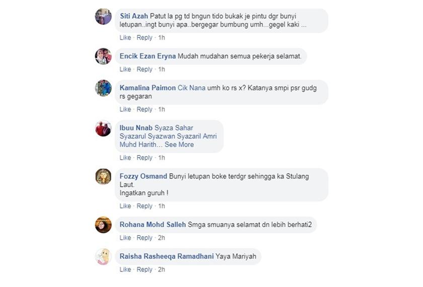 Komen netizen tentang insiden letupan dan kebakaran di Pengerang.