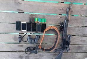 Lima lelaki bersenjata ditahan di perairan Mataking