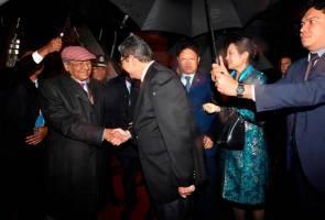 Tun M tiba di Beijing sertai Forum Satu Jalur Satu Jalan