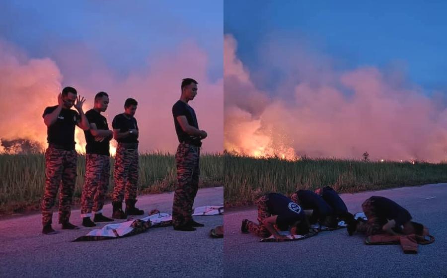 """""""Panas-panas puasa menghadap api"""" - Gambar bomba ini buat netizen syahdu"""