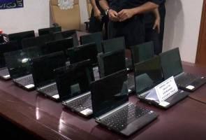 Baru kerja 11 hari, pengawal keselamatan pecah masuk makmal sekolah, curi 23 komputer riba