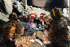 Demi nyawa, tangan mangsa runtuhan konkrit berhampiran LRT Gombak terpaksa dipotong