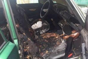 Padah terleka, anak maut terbakar hidup-hidup dalam kereta