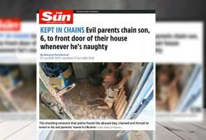 Kejam! Budak 6 tahun diperlaku seperti anjing oleh bapa sendiri