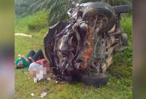 Pemandu maut, 3 penumpang parah nahas 4WD terbabas di Beluran