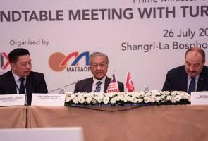 Dr Mahathir pelawa syarikat Turki melabur dalam tiga sektor utama Malaysia