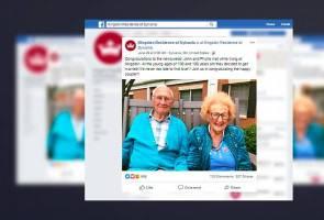 Lelaki berusia 100 tahun nikahi wanita 103 tahun 2