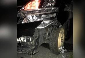 Kenderaan dinaiki Ketua Pemuda UMNO, Asyraf Wajdi terlibat kemalangan