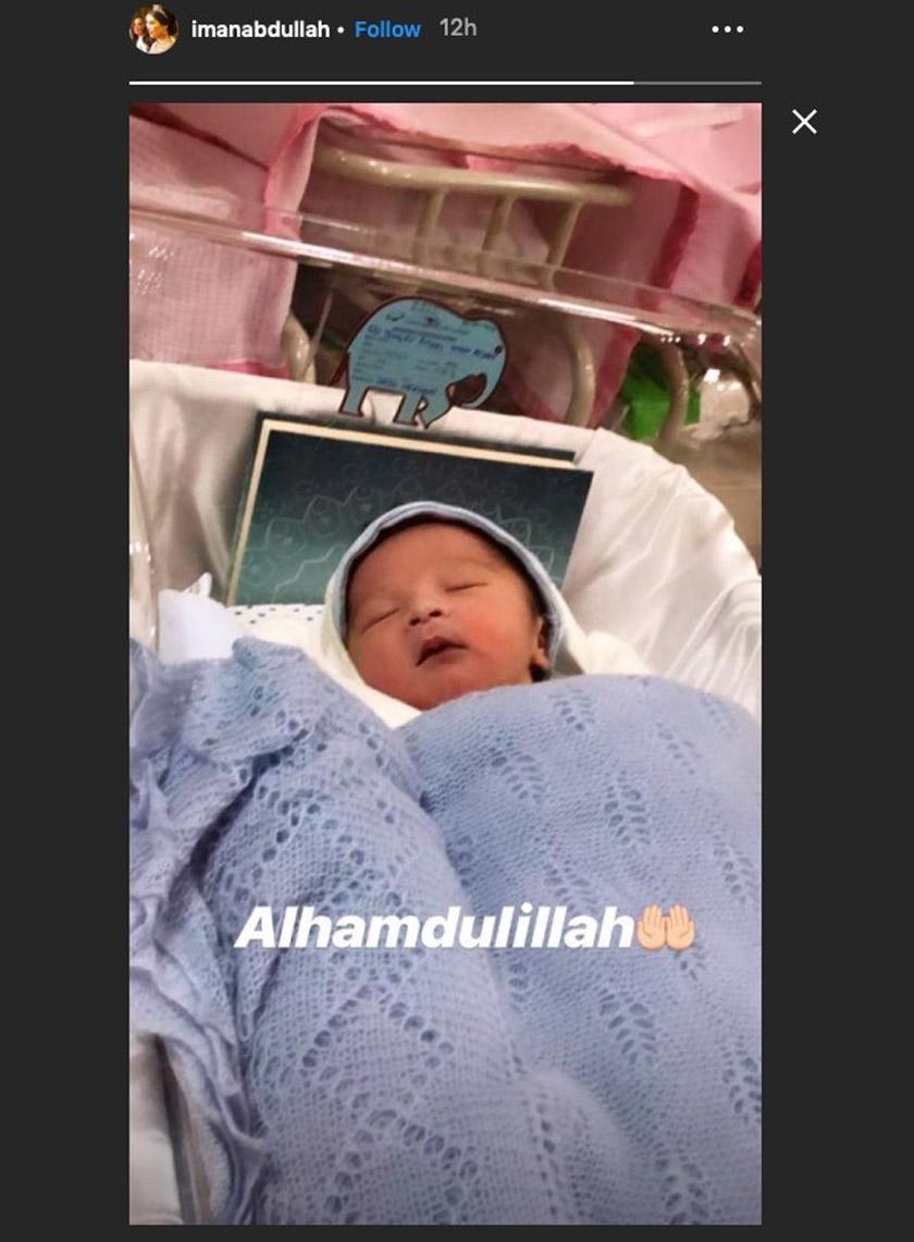 Putera sulung bagi pasangan Tengku Iman Afzan dan juga Tengku Abu Bakar. - Instagram Tengku Puteri Iman Afzan
