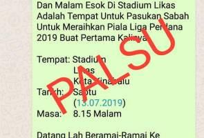 Pemberian tiket percuma tidak benar - SAFA
