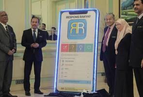 Aplikasi Respons Rakyat mudahkan buat aduan kepada 460 badan kerajaan