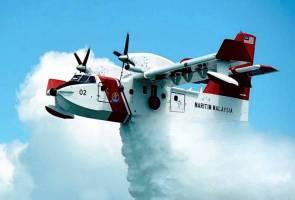 198,000 liter air diguna bagi memadam kebakaran hutan di Miri