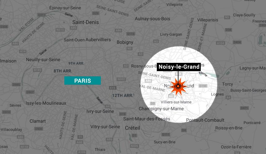Peristiwa berlaku di sebuah restoran di Noisy le Grand, 15 km ke timur Paris.