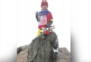 Tunai janji kepada ibu, budak 8 tahun daki gunung setinggi 3,952 meter
