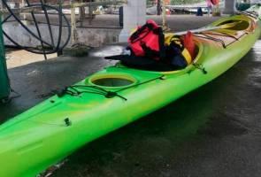 Kayak milik dua rakyat Singapura hilang di perairan Mersing ditemui