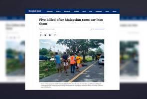 Pemandu warga Malaysia langgar mati lima lelaki di Thailand