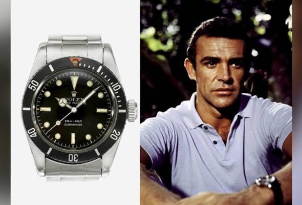 Gambar menunjukkan contoh model jam Rolex Submariner yang pernah dipakai oleh Sean Connery. - Instagram / @dailywatchtime | Astro Awani